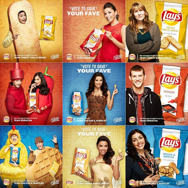 Eva Longoria, Michael Symon, and Create-A-Flavor contest finalists for Lays