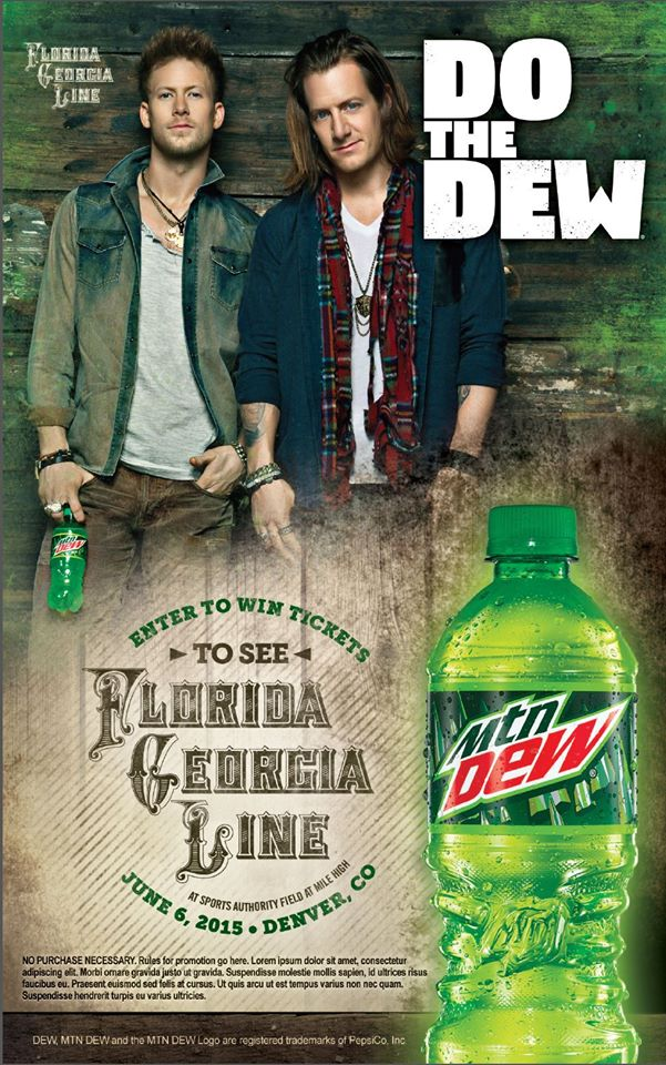 Another successful shoot with Jim Wright! New Mountain Dew ads with Florida-Georgia Line! Location photo rental coordination by SYNC Photo Rental
